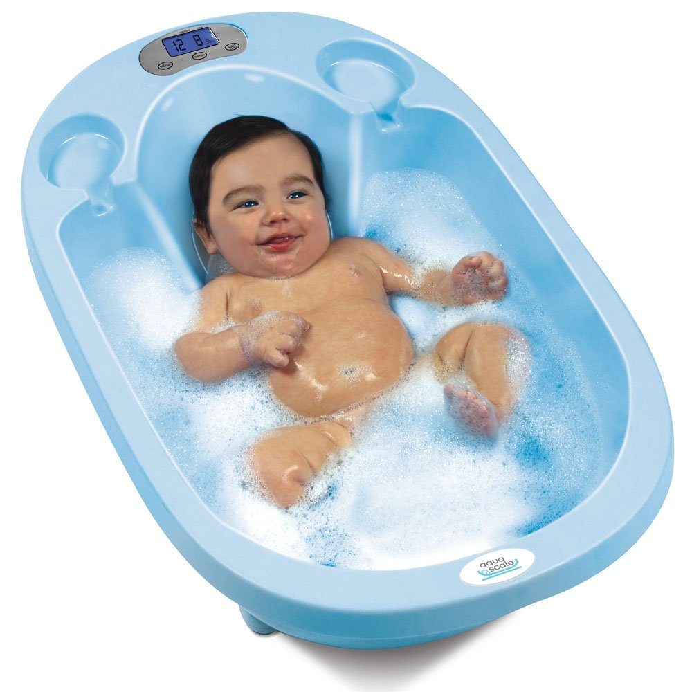 aqua scale 3 in 1 baby bath tub scale and water thermometer top