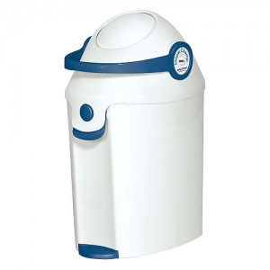 Dispose of those Huggies or Pampers in a diaper pail like the BABY TREND DELUXE DIAPER CHAMP.